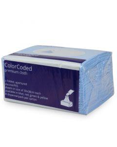 Speciale poetsdoek met kleurcodering W8 systeem 30x38cm - blauw