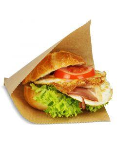 Snacktasche / Hamburgertasche, 2-seitig offen, groß, Kraftpapier - braun
