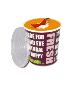 "Soup To Go-Container ""Fresh to go"", Pappbecher mit PP-Deckel für Suppenbars - 16oz/400ml"