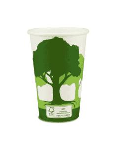 """Kaffeebecher, FSC-Zertifiziert, Coffee to go Becher """"Green Nature"""" - 12oz, 300ml"""
