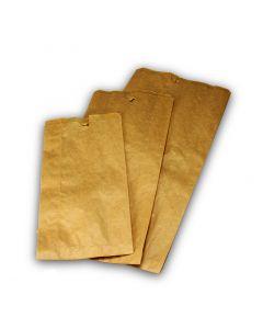 Bäckerfaltenbeutel 427, Bäckertüten Kraftpapier, braun - 16+6x36cm