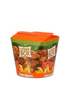 "Snack Faltbox ""Dönerbox"" - 26oz/750ml für Döner und Pomm-Döner"