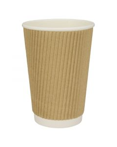 Ripple Cups - RIFFELBECHER, Recycling, Coffee to go Becher braun - 12oz, 300ml