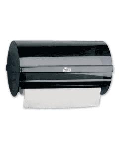 TORK - Wischtuchspender W5 für Putzrollen zur Wandmontage - transparent/schwarz
