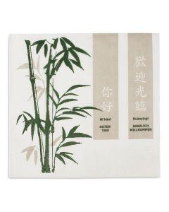 """Tissue-Servietten, 40x40cm 1/4 Falz, 3-lagig, Zellstoffservietten """"Ich lerne Chinesisch"""""""