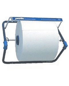 Abroller für Putzrollen, stabiler Wandhalter, blau Metall