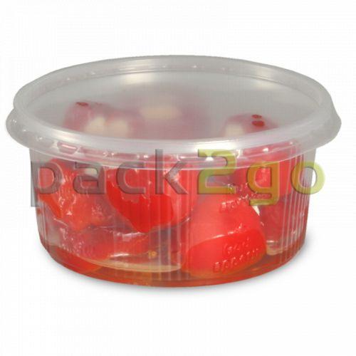 Feinkostbecher, Verpackungsbecher mit Deckel, PP, rund (Kombipack) - 250ml