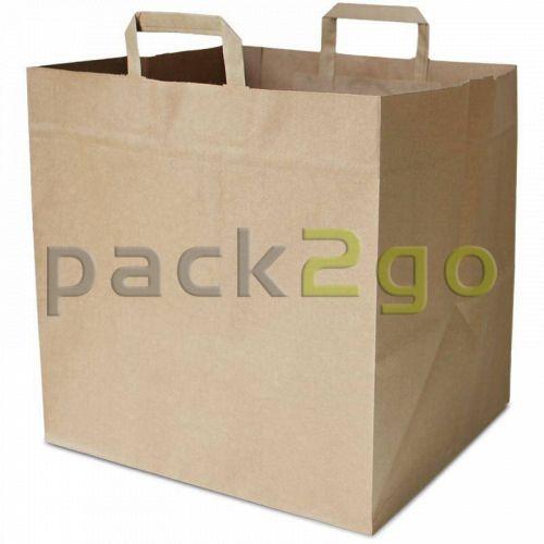 Papiertragetaschen für Pizzakartons 36+33x32cm - extra stark, Kraft braun