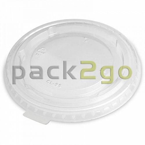 Deckel  für Clear Cups, flach, geschlossen mit Lasche - 95mm