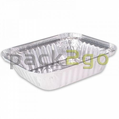 Alu-Behälter - eckig 219x127mm, 670ml, Alubehälter für Menüs