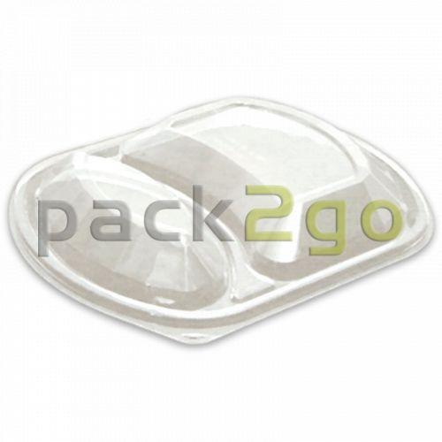 Domdeckel für HMR-Menüschale 2-geteilt P2G6323 - glasklar