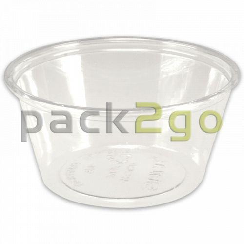 Dressingbehälter, Saucenbecher rund, PET, glasklar 75ml