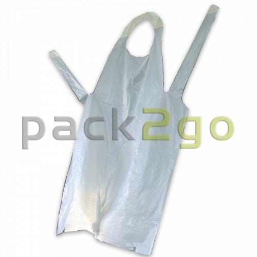 Einweg-Schürzen, PE-Kunststoff, weiß Einwegbekleidung transparent,75x125cm