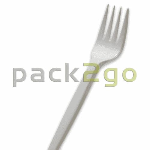 Gabel, Plastik, Einweggabel, Besteck weiß 165mm