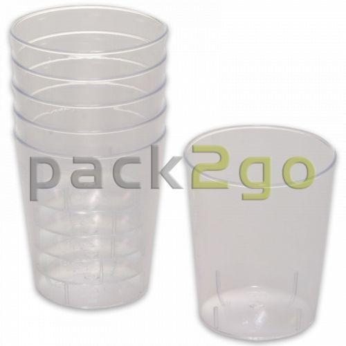 Einweg-Schnapsglas, 2cl und 4cl, Plastikbecher glasklar für Shots & Party-Drinks