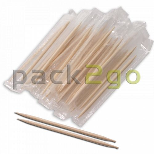 Zahnstocher, Holz, einzeln hygienisch verpackt