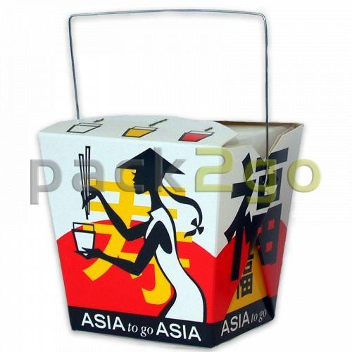 Asia-box, Vouwdoos met handvat