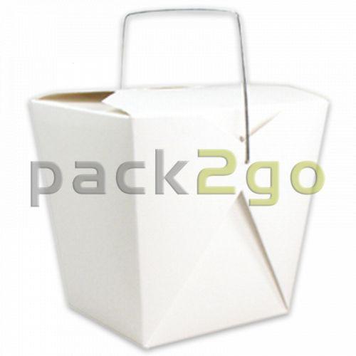 Faltbox mit Metall-Henkel (FoldPak) – Asia-/Nudelbox weiß unbedruckt - 8oz/250ml
