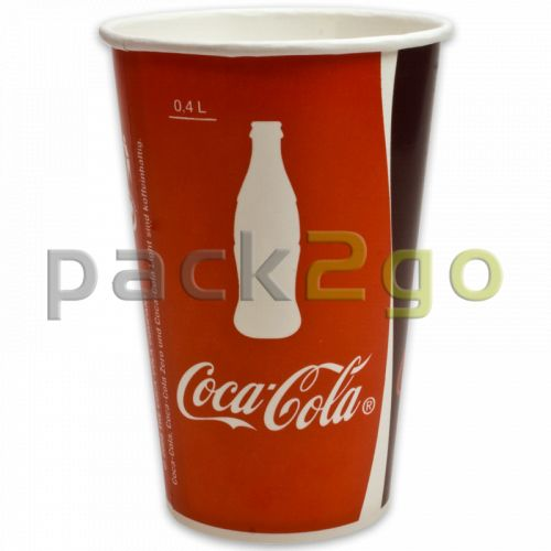Pappbecher ''Coca Cola'' für Softdrinks - 0,3l - Ø80mm