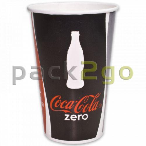 Pappbecher ''Coca Cola'' für Softdrinks - 0,4l - Ø90mm