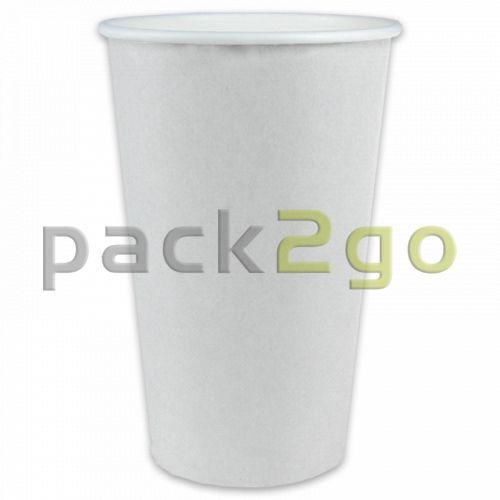 Kaffeebecher Coffee to go, Heißgetränke-Pappbecher weiß - 16oz, 400ml
