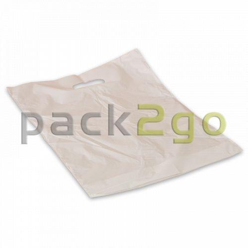 Griffloch-Tragetaschen - 25x35+3cm (HDPE)
