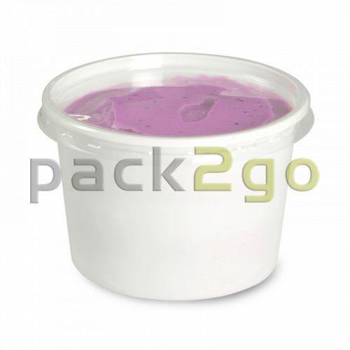 Feinkost-Verpackungsbecher, rund, weiß - 100ml