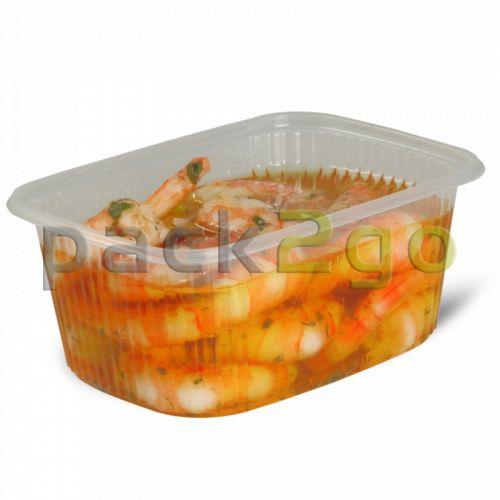 Feinkostbecher, Verpackungsbecher, PP, transparent, eckig - 200ml