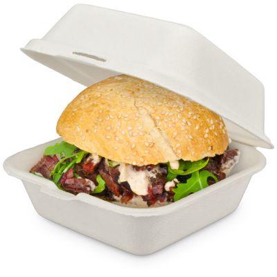 Burgerbox aus Bagasse