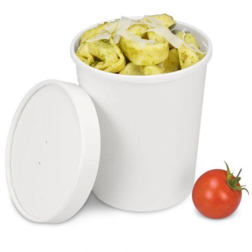 Soup To Go-Container, extrastarker Pappbecher mit Dampfdeckel für Suppenbars - 32oz/900ml