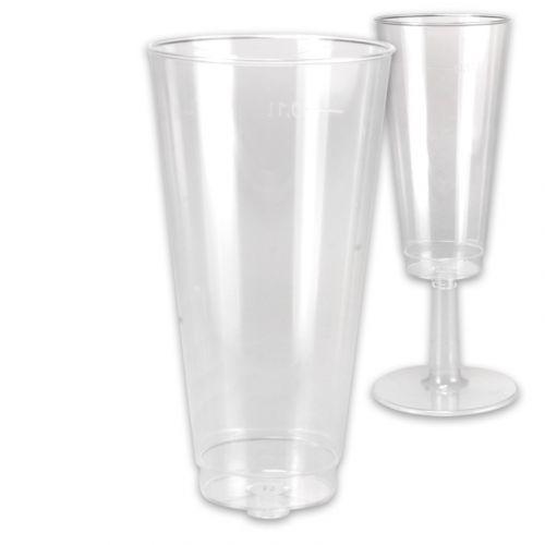 Bovenstuk om ineen te steken voor wegwerp-party-champagneglas 0,1l glashelder - enkel bovenstuk