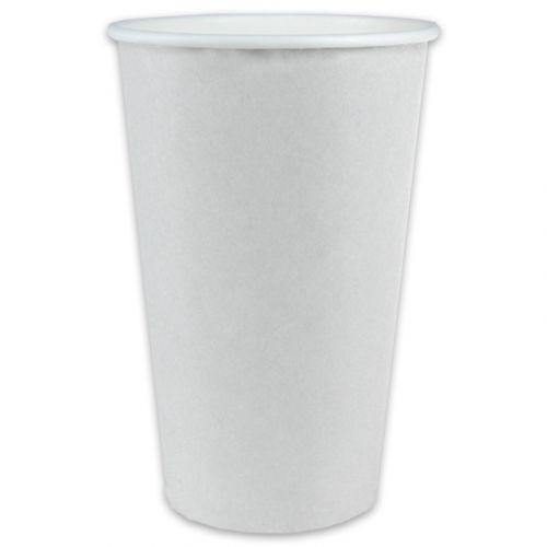 Koffiebekers coffee-to-go, kartonnen bekers voor warme dranken, wit - 20oz, 500 ml