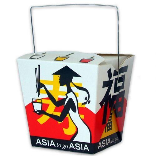 Asia Box, Foldpak mit Henkel ''Asia Grabbers'' 26oz/750ml
