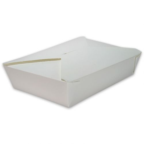 BioPak Foodcase - Snackbox mit Faltdeckel, beschichtet, weiß - 1500ml