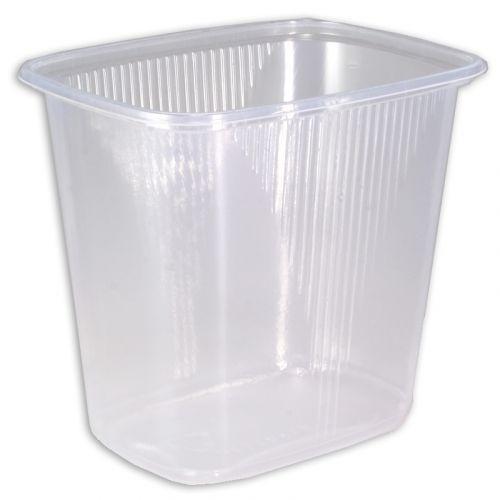 Delicatessenbeker, verpakkingsbeker, PP, transparant, rechthoekig - 500ml