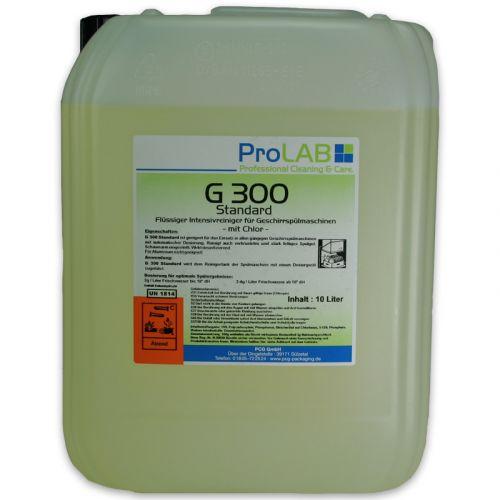 Vaatwasmiddel, vloeibaar met desinfectie Gastronomie G-300 - 10 liter jerrycan (ProLAB)