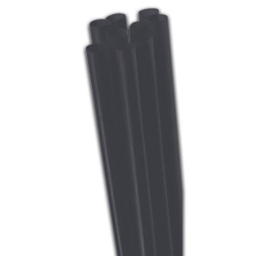 jumbo-rietjes - dik rietje zwart, onbuigbaar - 25 cm, 8 mm