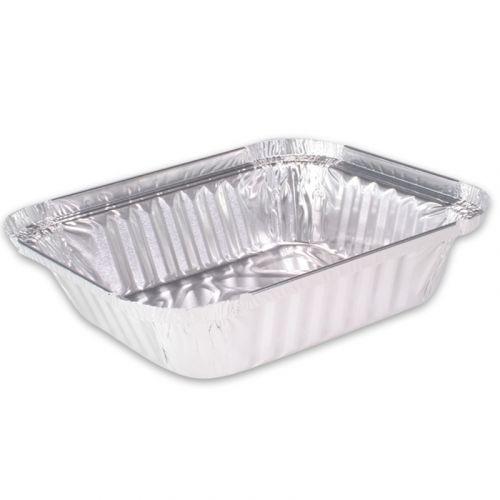 Aluminium bakjes - rechthoekig 187x137mm, 900ml, aluminium bakjes voor menu's