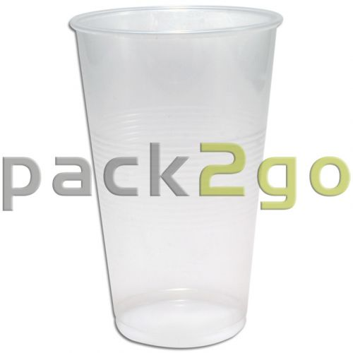 Plastikbecher, transparent klar, PP Kunststoff-Trinkbecher (Kaltgetränkebecher) -  0,3l