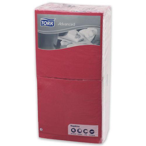 Tork Advanced tissue-servetten, 40x40 1/4, 3-laags, celstofservetten - rood