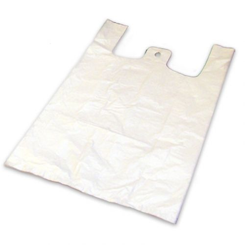 Hemdchen-Tragetaschen - ND-Polyethylen (HDPE), weiß 25+17x50cm