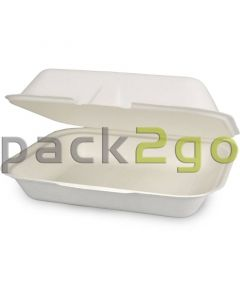 "Kompostierbare Menüboxen HP4 ""Eco-Friendly"" aus Bagasse - ungeteilt"