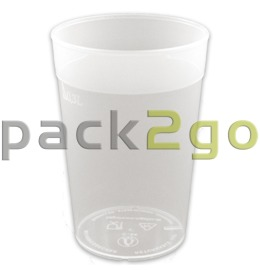 recyclebare bekers PP LIGHT, lichte, recyclebare drinkbekers, Hard plastic - 0,3 l