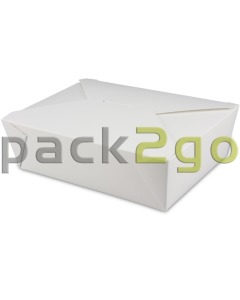 BioPak Foodcase - snackbox met vouwdeksel, gecoat, wit - 2000ml