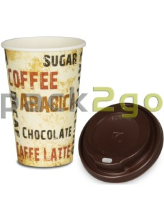 "SPARSET - Coffee To Go Kaffeebecher ""Barista"" - 12oz, 300ml, Pappbecher mit braunem Deckel"