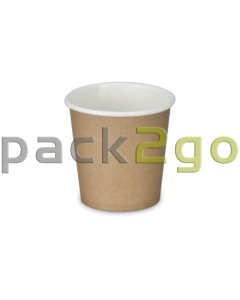 Espressobekers, coffee-to-go-bekers, koffiebekers karton, bruin - 4oz/100ml