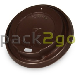 Coffee To Go Deckel 8/10oz, braun, Deckel f. Kaffeebecher 0,2/0,25l, Plastik