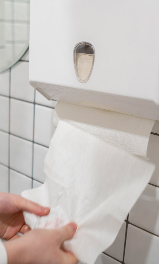 Sicher & zuverlässig!<br>Papierhandtücher zu<br>günstigen Preisen